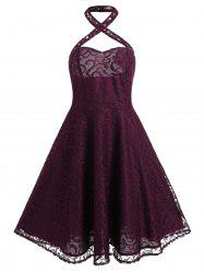 Lace Fit and Flare Vintage Dress -