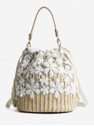 Straw Lace Detail Vacation Hand Bag -
