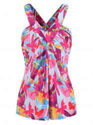 Butterfly Print Back Cut Out Tank Top -