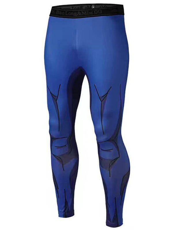 Outfit 3D Muscle Printed Compression Tights Running Pants