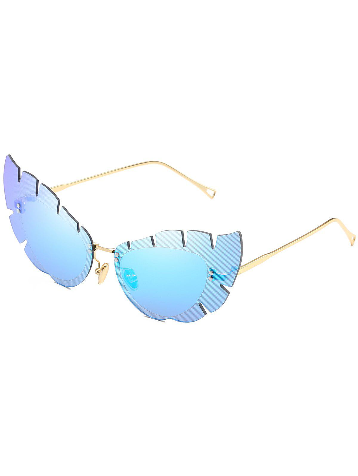 Trendy Anti Fatigue Irregular Lens Butterfly Sunglasses