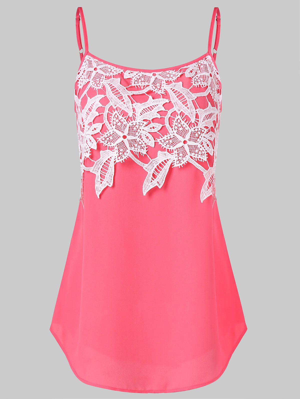 Shop Lace Panel Slip Top