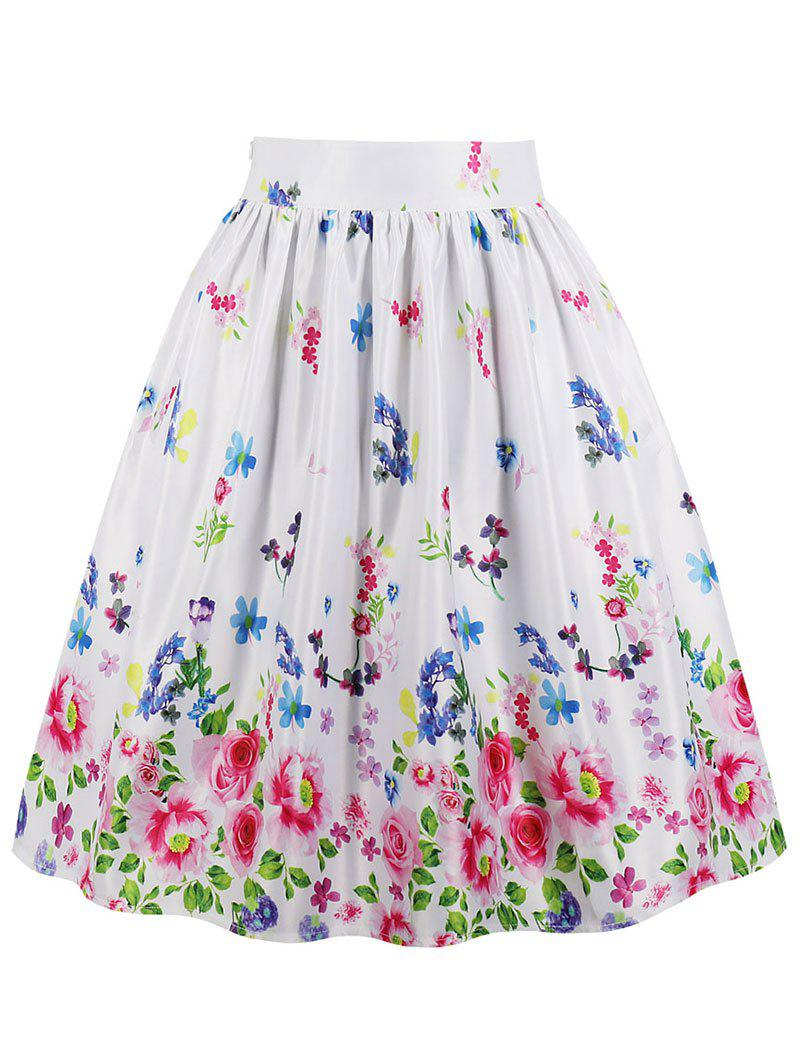 Best High Waisted Floral Midi Skirt