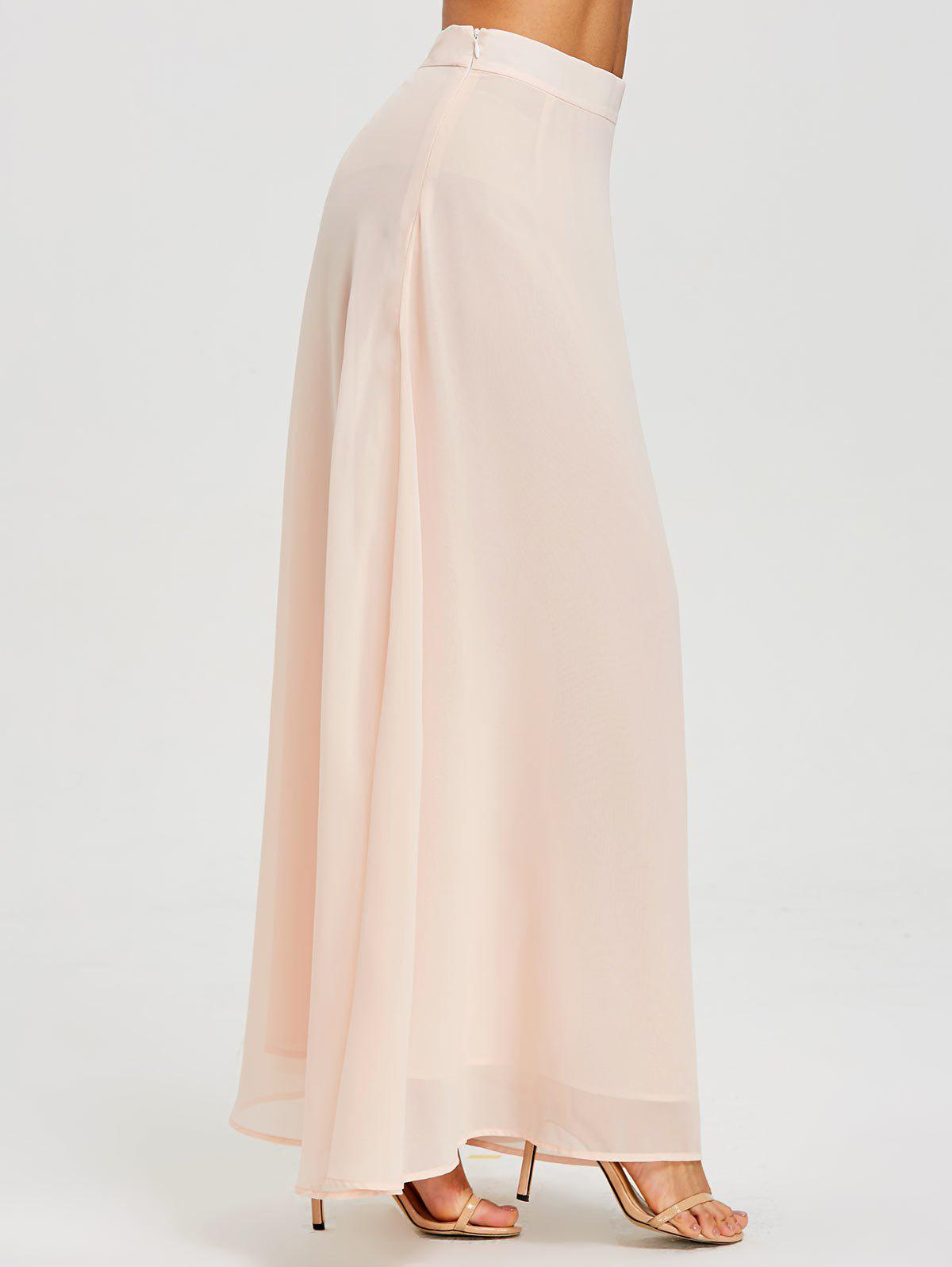Latest High Waist Maxi Evening Skirt