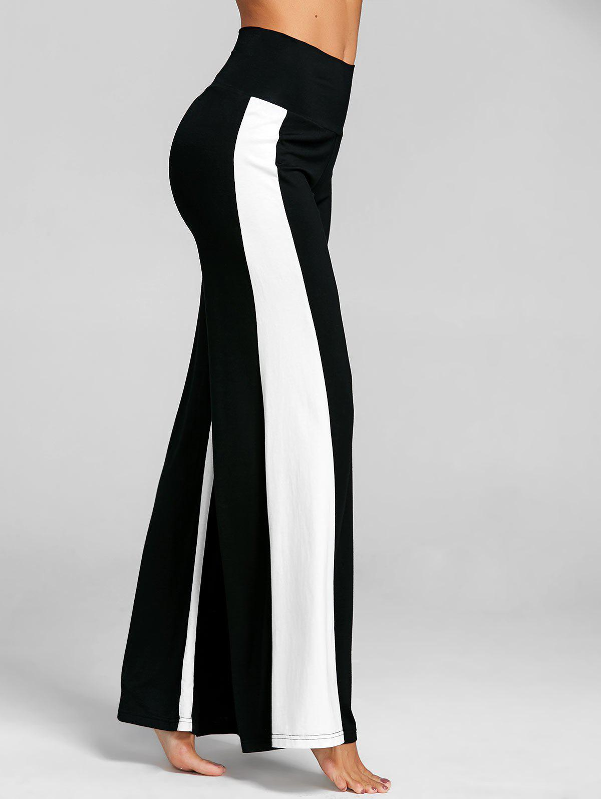 Shops High Waist Two Tone Wide Leg Pants
