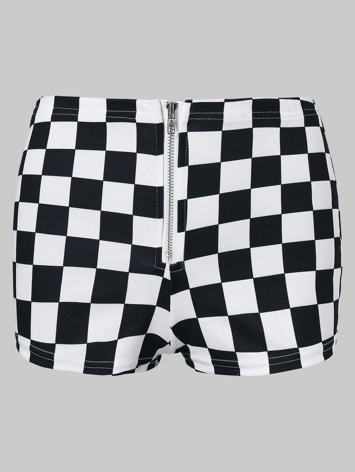 Discount Mini Checked Shorts