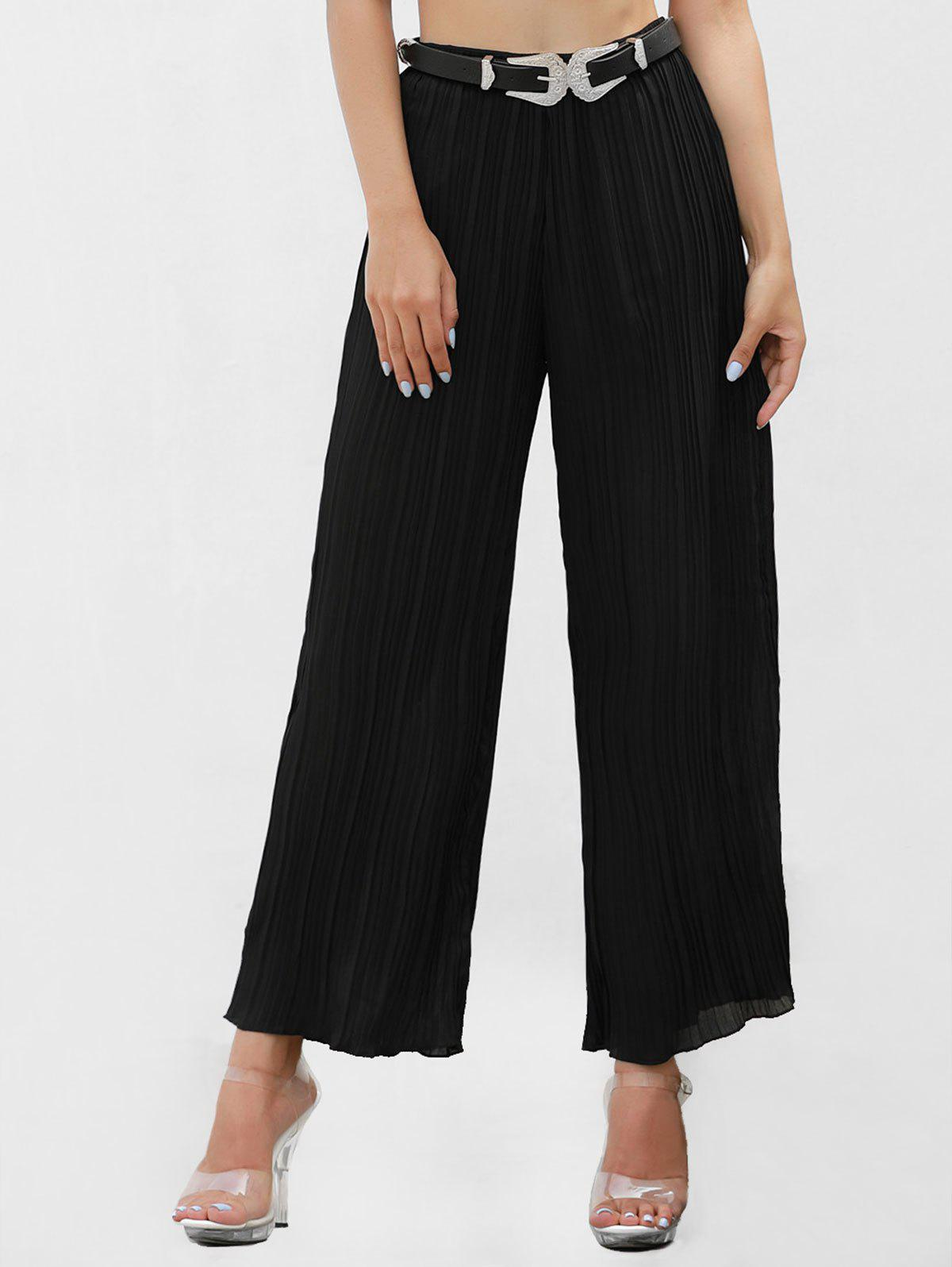 Latest Pleated High Waisted Pants