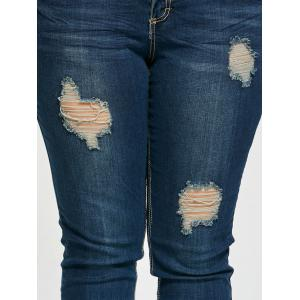 Plus Size Ripped Tight Jeans -