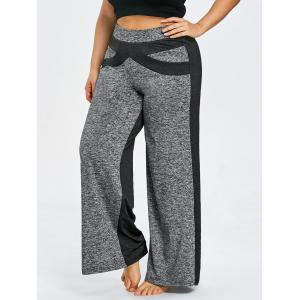 Color Block Plus Size Wide Leg Pants -