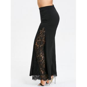 Plus Size Lace High Slit Palazzo Pants -