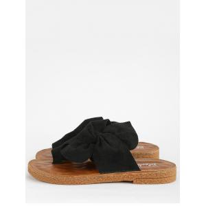 Cheapest From China For Sale Bow Casual Flat Heel Vacation Thong Sandals - BLACK With Paypal Cheap Price cFFBccwkcs