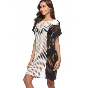 Hollow Out Crochet See Through Cover Up -