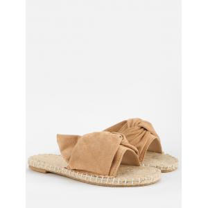 Daily Stitching Bowknot Espadrille Slide Sandals -