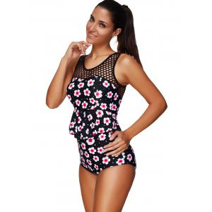 Flower Peplum Tankini Set -