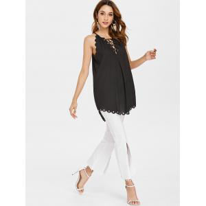 Scalloped Lace Up Cami Top -