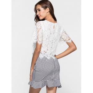 Short Sleeve Lace Blouse -