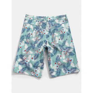Flower Leaves Print Casual Shorts -