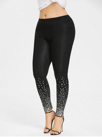 Unique Plus Size Stars Pattern Leggings