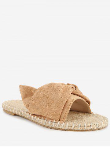 New Daily Stitching Bowknot Espadrille Slide Sandals