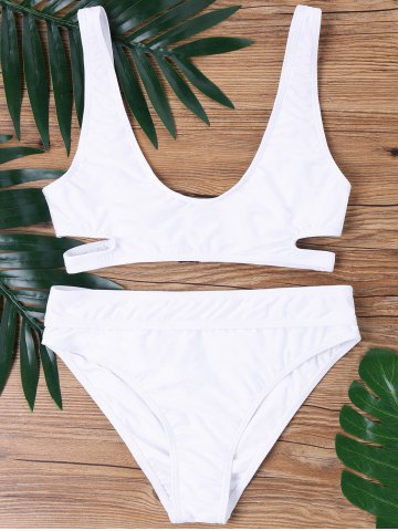 Buy Cutout Deep U Neck Bikini Set