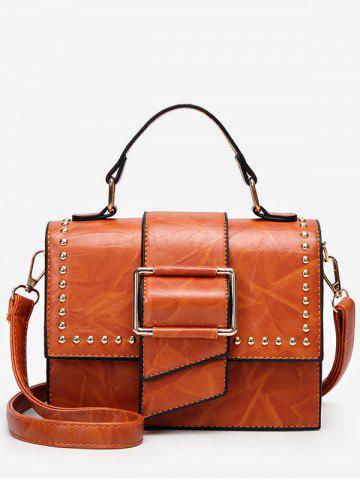 Outfits Studs Flap Chic Buckled Crossbody Bag
