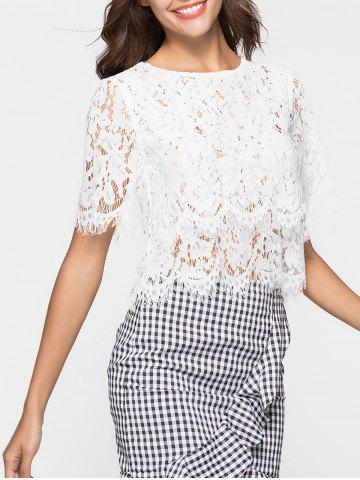 Affordable Short Sleeve Lace Blouse
