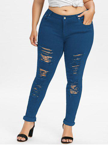 Affordable Plus Size Ripped Distressed Jeans