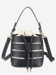 String Bucket Leisure Hollow Out 2 Pieces Handbag Set -