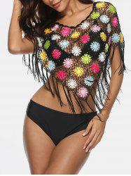 Fringe Insert See Through Cover Up -