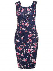 Floral Formal Knee Length Dress -