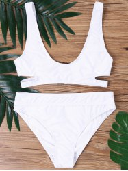 Cutout Deep U Neck Bikini Set -