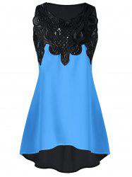 Lace Embroidered High-low Sleeveless Top -