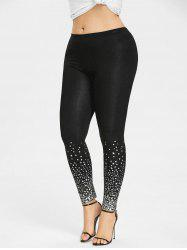 Plus Size Stars Pattern Leggings -