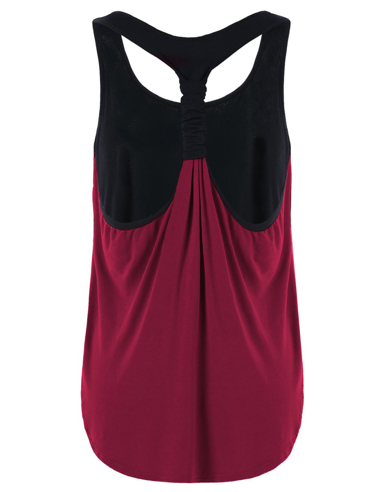 Sale Summer Two Tone Layered Tank Top