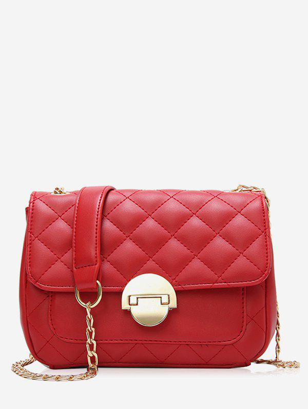 Online Flapped Quilted Chic Stitching Crossbody Bag