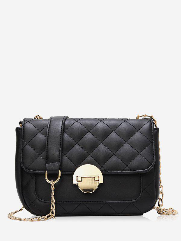 Unique Flapped Quilted Chic Stitching Crossbody Bag