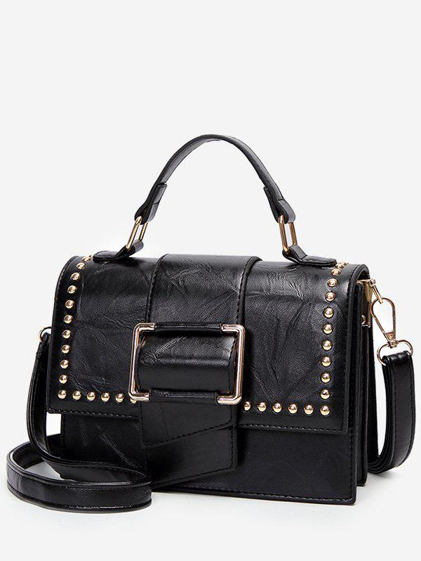 Latest Studs Flap Chic Buckled Crossbody Bag