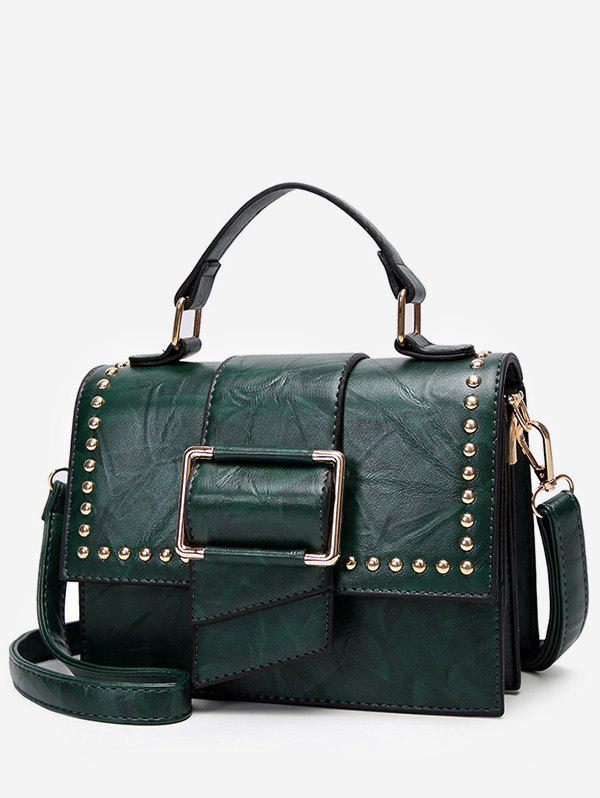 New Studs Flap Chic Buckled Crossbody Bag