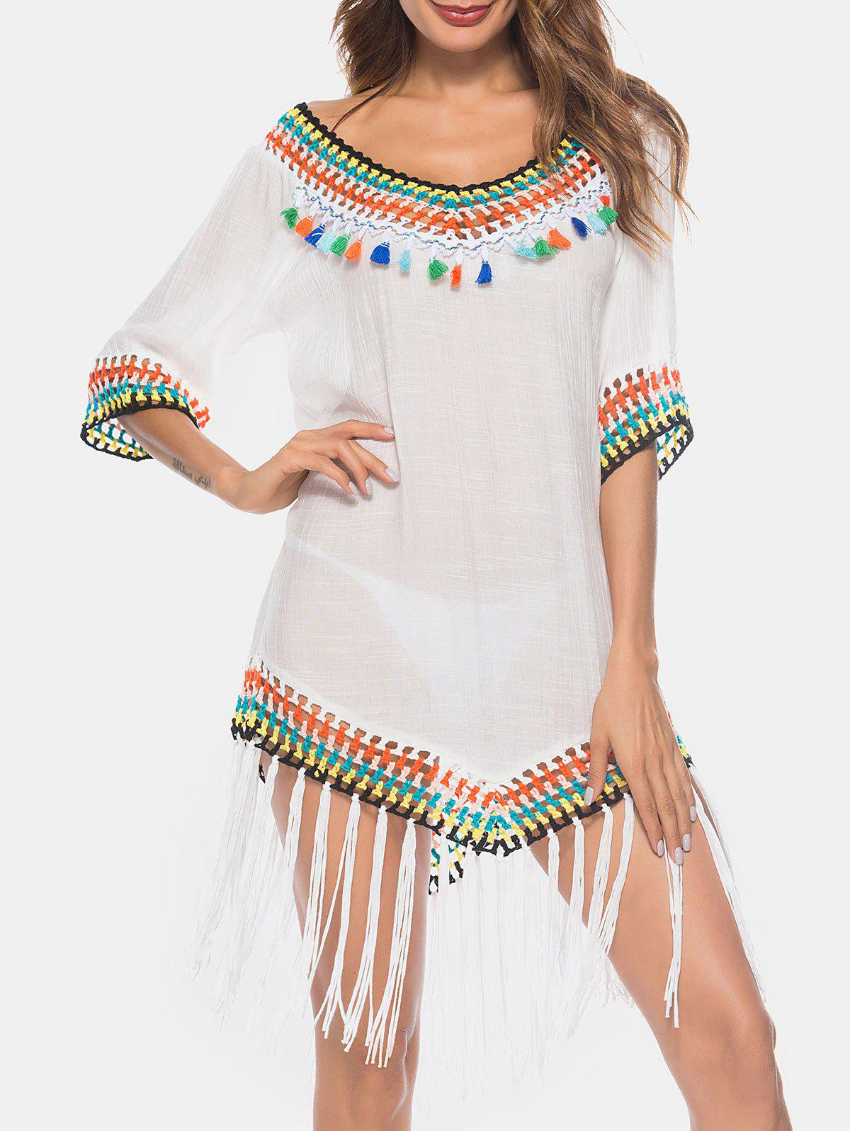 Outfits Crochet Tassel Insert Cover Up