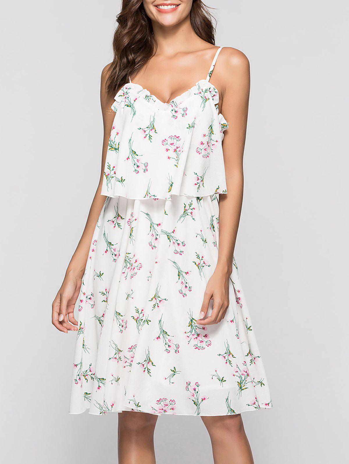 Affordable Print Knee Length Swing Dress