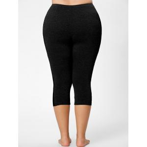 Mesh Panel Lace Plus Size Cropped Leggings -