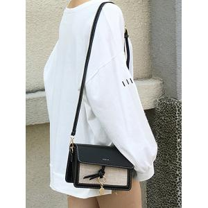 Daily Shopping Knot Flapped Crossbody Bag -