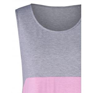Lace Panel Two Tone Tank Top -