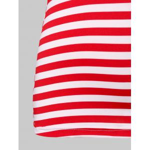 Lace Panel American Flag Tank Top -