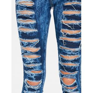 Frayed Skinny Ripped Jeans -
