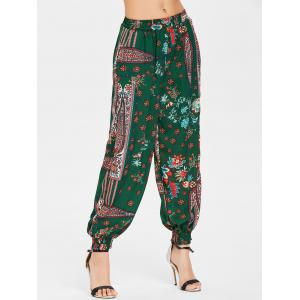 High Waist Tribal Print Pants -