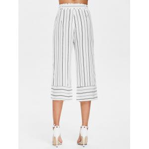 Striped High Waist Gaucho Pants -