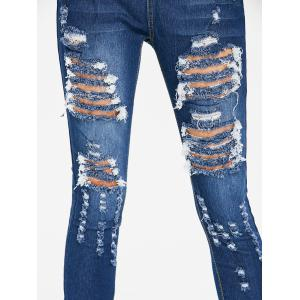 Skinny High Waisted Distressed Jeans -