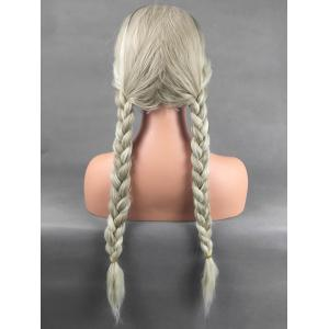 Long Center Parting Colormix Corn Hot Wavy Synthetic Wig -