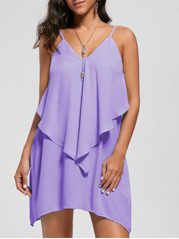 Outfit Overlay Crescent Hem Slip Dress